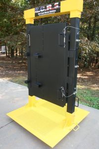 Custom built forcible entry door simulator that allows ...