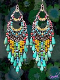 Turquoise, Jewelry and Earrings on Pinterest