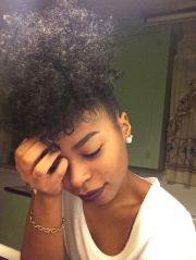 black girl curly high puff - google