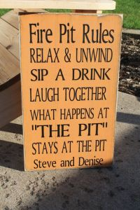 Fire pits, Typography and Signs on Pinterest