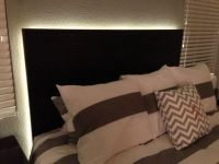How To Make a Floating Headboard With LED Lighting | Be ...