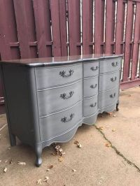 Refinished grey French provincial dresser using Amy Howard ...