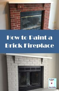 You can do it! Learn how to paint a brick fireplace with A ...