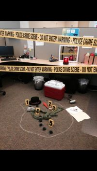 Police lights, Crime scenes and Cubicles on Pinterest