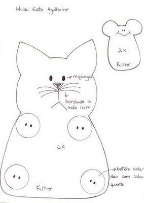 Pincushion patterns, Cats and Patterns on Pinterest
