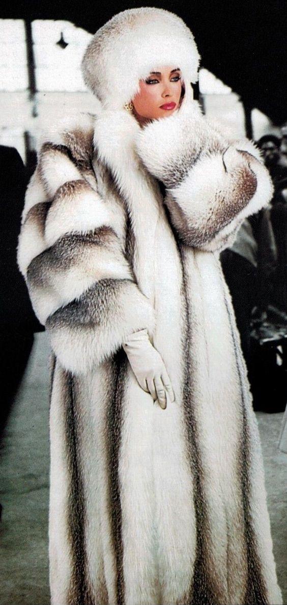 Long White Fur Coat  JacketIn