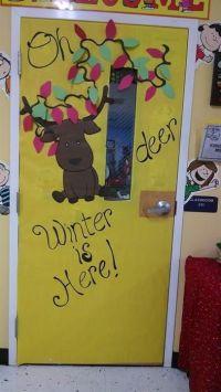"""""""Oh Deer, Winter Is Here!"""" - Winter Classroom Door Display ..."""