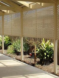 Ideas Using Lattice | Fence with Lattice  Better Homes ...