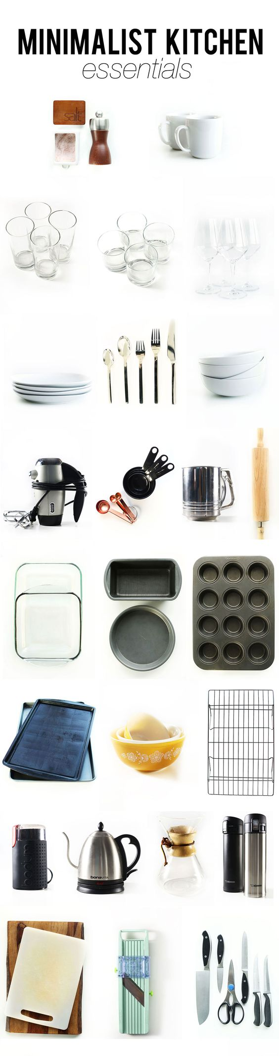 Kitchen Essentials, Minimalist Kitchen And Kitchens On