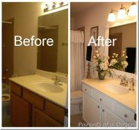 Updating builder grade cabinets | Bathroom remodel ...