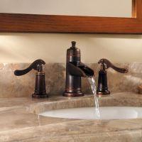 widespread bathroom faucet waterfall bronze