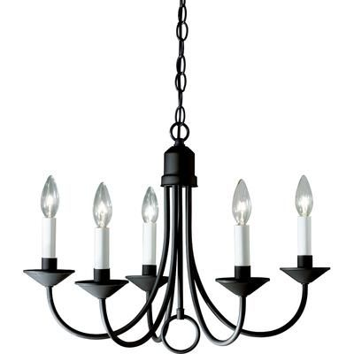 785247400829 Home Depot Canada Progress Lighting Textured Black 5 Light Chandelier