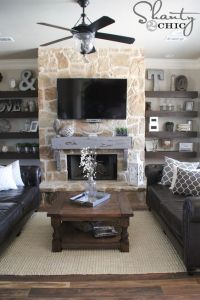 Fireplaces, Shelves and Stone fireplaces on Pinterest