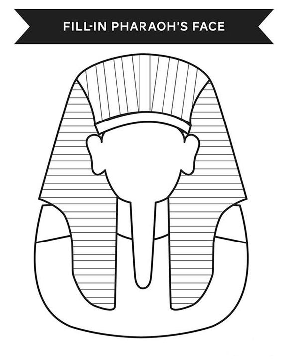 Ancient Egypt, : Print Your Face in Ancient Egypt Pharaoh