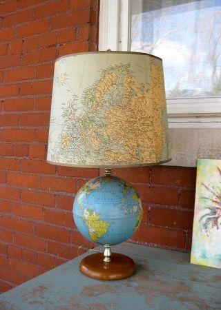 Resultado de imagem para abajur mapa decoração