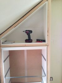 IKEA Hack Closet/Storage for loft bedroom with sloping ...