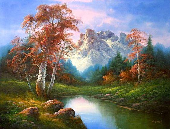 classic landscape of . cafieri oil