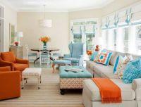 Blue and Orange Sofa in Contemporary Amazing and Unique ...