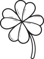 Kleeblatt.   Malvorlagen template   Pinterest   Ausmalbilder