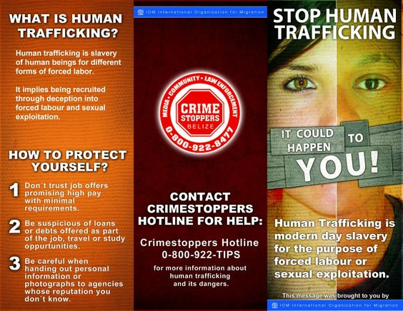 IOM HUMAN TRAFFICKING CAMPAIGN BROCHURE Outside If You
