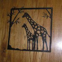 Giraffes-Metal Art-Wall Decor   It is, Giraffe art and The ...