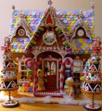 candyland christmas door decoration