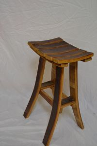 Barrel Stave Bar Stool | School Altrusa tree | Pinterest ...