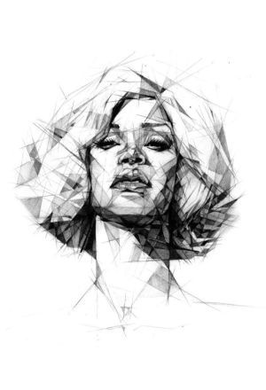 drawing straight lines using line drawings pencil colours portrait tone portraits sketch because chose liked woman cool geometry artwork sketches