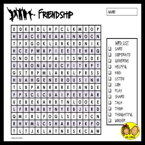 Friendship words, Word search and Friendship on Pinterest