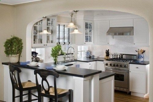Breakfast Bar With Arch Over Kitchen Wall Cut Out Ideas