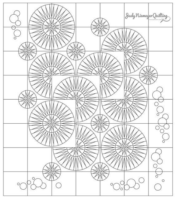 Raindrops Line Drawing, Quiltworx.com, Made by Quiltworx