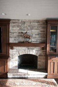 faux brick fireplace surround | This faux or manufactured ...