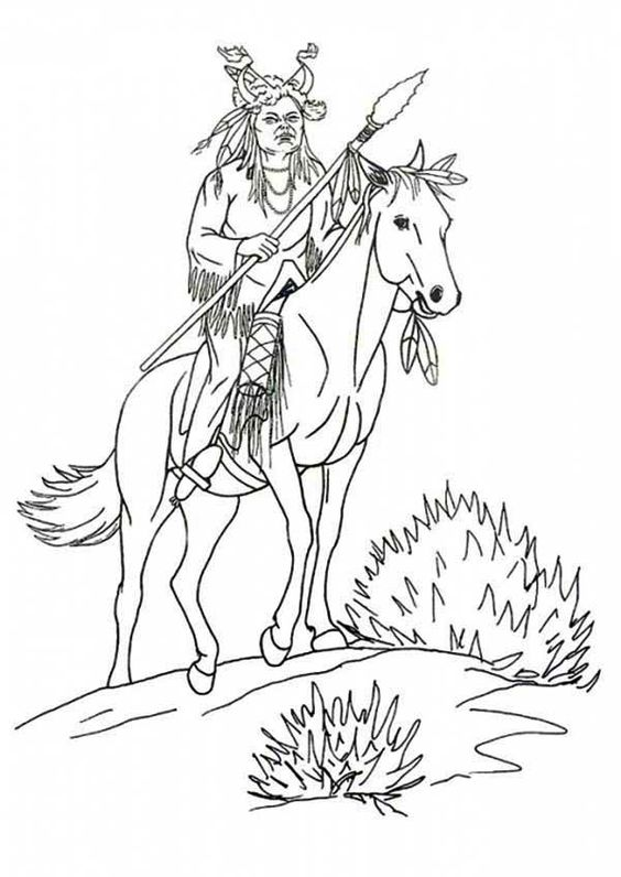 Horse coloring pages, Native american and Coloring pages