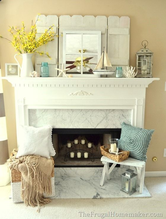 Coastal style home decor is so relaxing and can make any space very inviting. And who says you have to live near the coast or beach to decorate that way? Light blues, nautical accents, and driftwoods aged (aka stained or painted) to perfection are all you need to accomplish a bright and welcoming coastal style …: