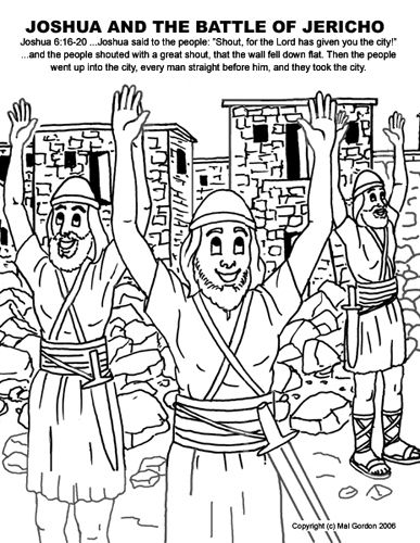 Battle of jericho, The battle and Bible coloring pages on
