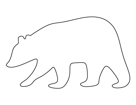 Brown Bear pattern. Use the printable pattern for crafts