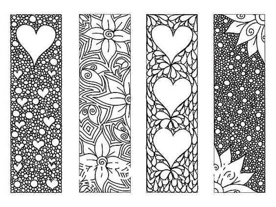 bookmarks you can print and color  creative art