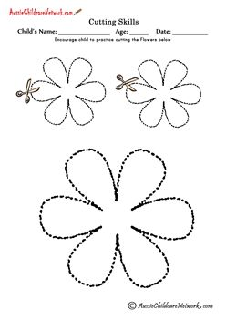 12 Printable Cutting Shapes including Flowers, Hearts