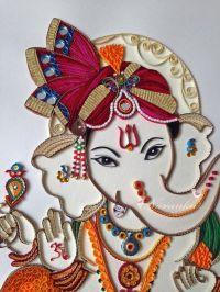 Made to Order Handmade Paper Quilling Ganesha UNFRAMED ...