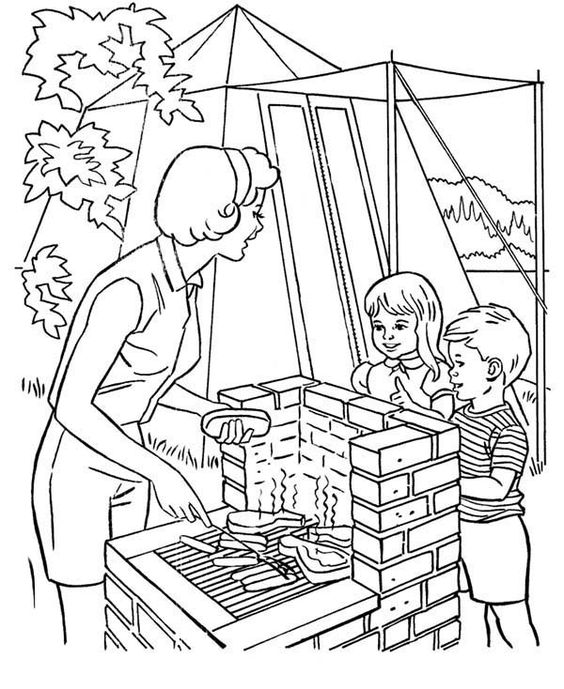 Helping-Mother-Cooking-at-Camping-Coloring-Page.jpg (600