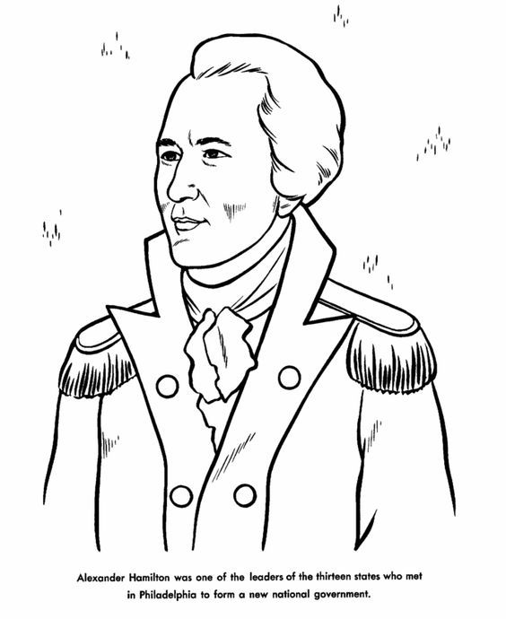 Alexander hamilton, Coloring pages and Coloring on Pinterest