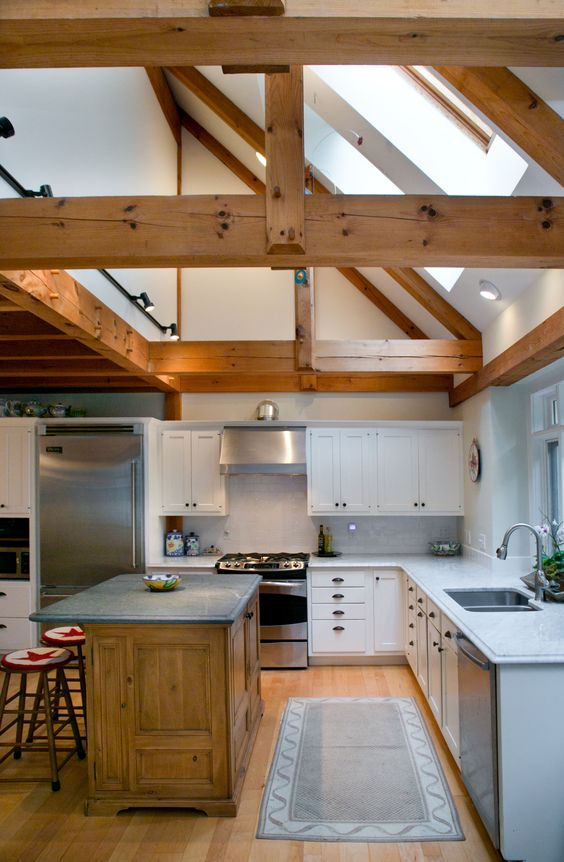 living room lighting ideas cathedral ceiling placing furniture in a small great post and beam kitchen-partial ...