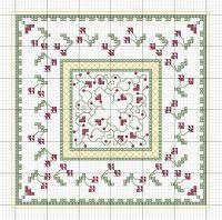 Cross-stitch Biscornu Freebie Patterns... no color chart ...
