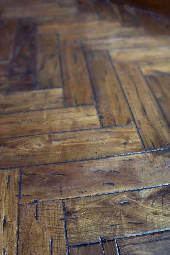 Rustic Herringbone Pattern Flooring httpwww