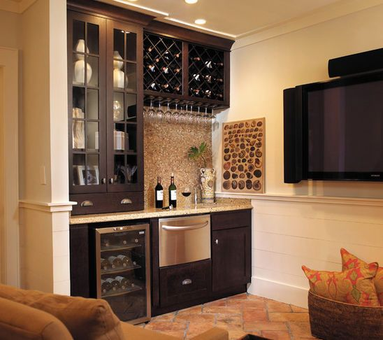 Perfect small footprint bar with room for sink Products Yorktowne Cabinetry Wet Bar A wine