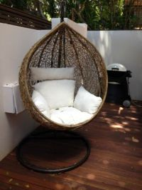 BN Wicker Hanging Swing EGG Chair Rattan IN Outdoor POD in ...