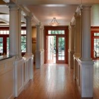 knee wall and columns for basement entry | Decor ...