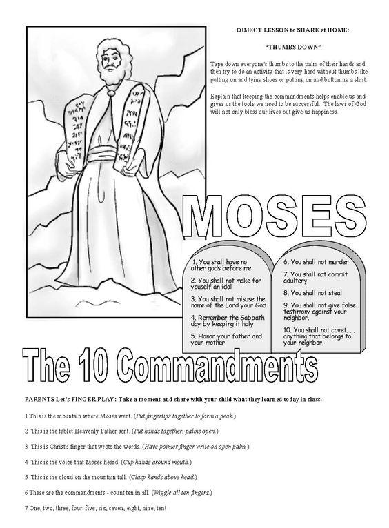February Week 4: 10 Commandments Cute Finger Play, Object