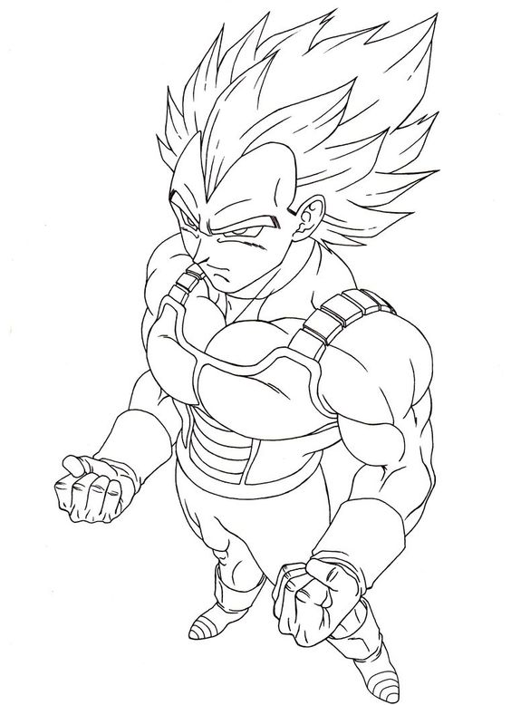 Dragon Ball Cartoon Gogeta Coloring Page Coloring Pages Printable