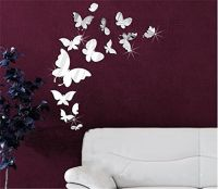 Butterfly wall stickers, 3d wall and Acrylics on Pinterest